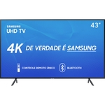 Smart TV LED 43'' Samsung 43RU7100 Ultra HD 4K com Conversor Digital 3 HDMI 2 USB Wi-Fi Hdr Premium Controle Remoto Único e Bluetooth