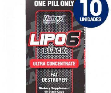 COMBO 10 UNIDADES – Lipo 6 Black Ultra Concentrado 60 cápsulas com Desconto na Monster Suplementos