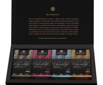 Chocolift Be Complete – 8 Barras 4 Sabores – Essential Nutrition com Desconto