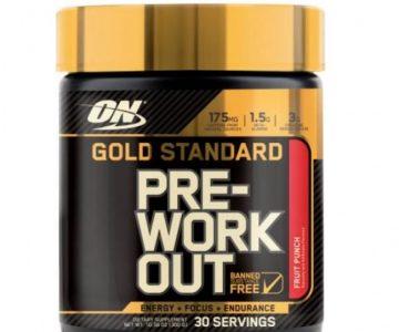Pre Workout Gold Standard – Optimum Nutrition com Desconto