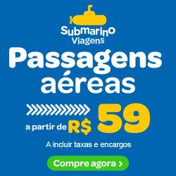 Passagens aereas a partir de R$59