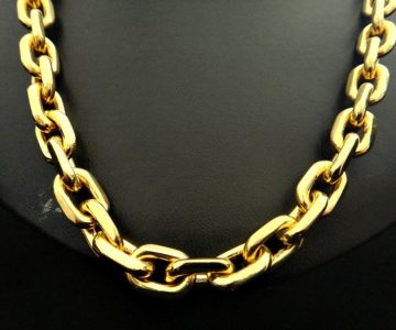 Corrente de Ouro 18K Bandeirante de 2,0cm com 80cm com Desconto na Fábrica do Ouro