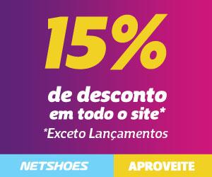 Produtos com desconto de 15% no Netshoes