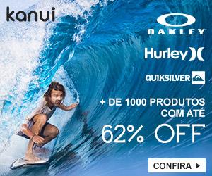 Produtos Oakley, Hurley e Quicksilver com 62% de desconto