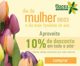 Flores com desconto de 10% no Dia da Mulher