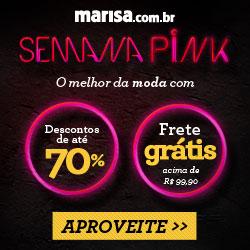 Semana Pink Marisa produtos com desconto de 70%
