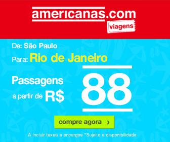 Passagem Aerea de Sao Paulo SP para Rio de Janeiro RJ com desconto no Americanas Viagens