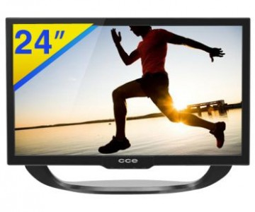 TV LED 24″ HDTV CCE com Tela Widescreen, Conversor Digital Integrado, Sleep Timer, Ginga, Conexões USB, HDMI e VGA com desconto no Ricardo Eletro